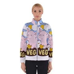 Go Vegan   Cute Pig And Chicken Winterwear by Valentinaart