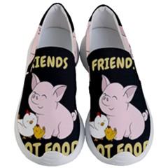 Friends Not Food   Cute Pig And Chicken Women s Lightweight Slip Ons by Valentinaart