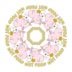 Friends Not Food   Cute Pig And Chicken Folding Umbrellas by Valentinaart