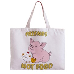 Friends Not Food   Cute Pig And Chicken Zipper Mini Tote Bag by Valentinaart