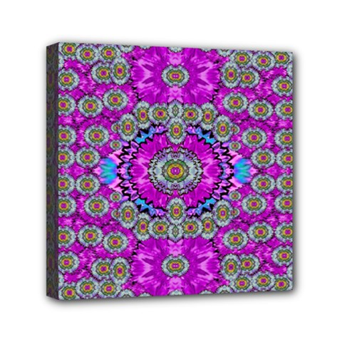 Spring Time In Colors And Decorative Fantasy Bloom Mini Canvas 6  X 6  by pepitasart