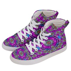 Spring Time In Colors And Decorative Fantasy Bloom Women s Hi Top Skate Sneakers by pepitasart