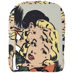 Hugging Retro Couple Full Print Backpack by vintage2030