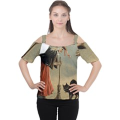 Witch 1461961 1920 Cutout Shoulder Tee by vintage2030