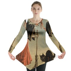 Witch 1461961 1920 Long Sleeve Tunic  by vintage2030