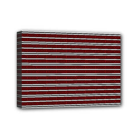 Indian Stripes Mini Canvas 7  X 5  by jumpercat