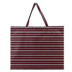 Indian Stripes Zipper Large Tote Bag by jumpercat