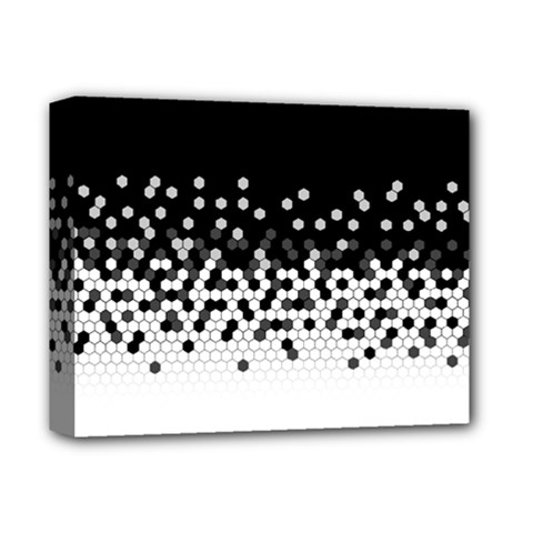 Flat Tech Camouflage Black And White Deluxe Canvas 14  X 11  by jumpercat