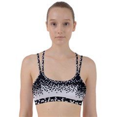 Flat Tech Camouflage Black And White Line Them Up Sports Bra by jumpercat