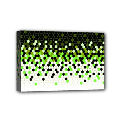 Flat Tech Camouflage Reverse Green Mini Canvas 6  X 4  by jumpercat