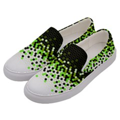 Flat Tech Camouflage Reverse Green Men s Canvas Slip Ons by jumpercat