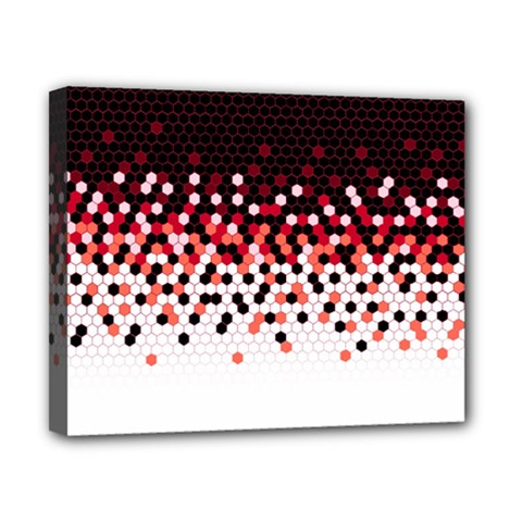 Flat Tech Camouflage Reverse Red Canvas 10  X 8  by jumpercat