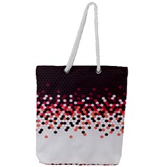 Flat Tech Camouflage Reverse Red Full Print Rope Handle Tote (large) by jumpercat