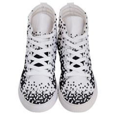 Flat Tech Camouflage White And Black Men s Hi Top Skate Sneakers