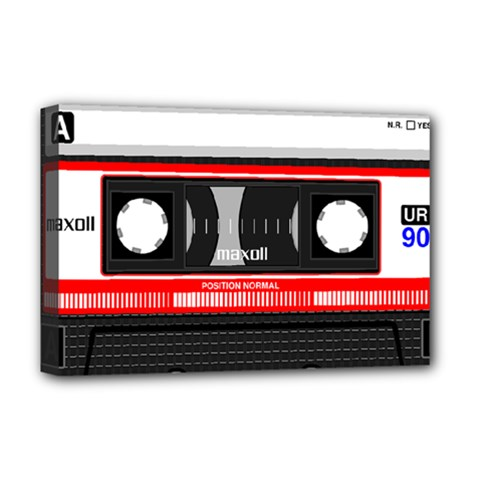 Compact Cassette Deluxe Canvas 18  X 12   by vintage2030
