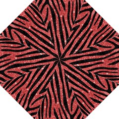 Skin4 Black Marble & Red Glitter (r) Hook Handle Umbrellas (medium) by trendistuff