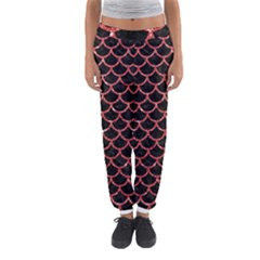 Scales1 Black Marble & Red Glitter (r) Women s Jogger Sweatpants