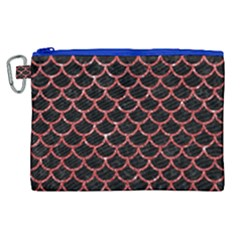 Scales1 Black Marble & Red Glitter (r) Canvas Cosmetic Bag (xl)
