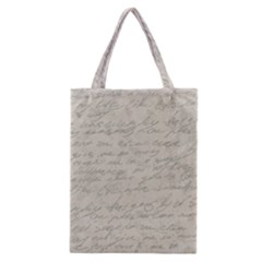 Handwritten Letter 2 Classic Tote Bag by vintage2030