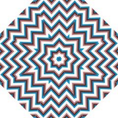 Zigzag Chevron Pattern Blue Magenta Straight Umbrellas by vintage2030