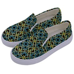 Arabesque Seamless Pattern Kids  Canvas Slip Ons by dflcprints