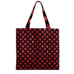 Circles3 Black Marble & Red Glitter Zipper Grocery Tote Bag by trendistuff