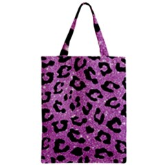 Skin5 Black Marble & Purple Glitter (r) Zipper Classic Tote Bag by trendistuff