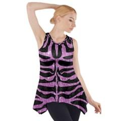 Skin2 Black Marble & Purple Glitter (r) Side Drop Tank Tunic by trendistuff