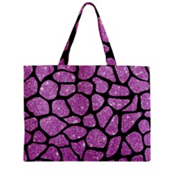 Skin1 Black Marble & Purple Glitter (r) Zipper Mini Tote Bag by trendistuff