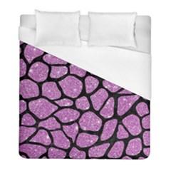 Skin1 Black Marble & Purple Glitter (r) Duvet Cover (full/ Double Size) by trendistuff