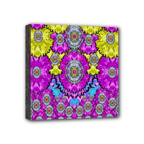 Fantasy Bloom In Spring Time Lively Colors Mini Canvas 4  X 4  by pepitasart