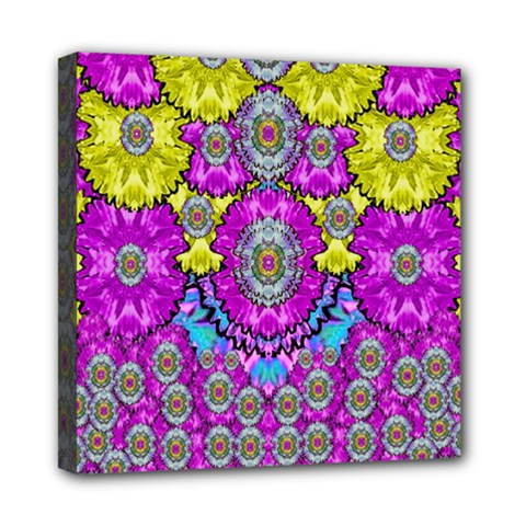 Fantasy Bloom In Spring Time Lively Colors Mini Canvas 8  X 8  by pepitasart