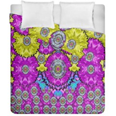 Fantasy Bloom In Spring Time Lively Colors Duvet Cover Double Side (california King Size) by pepitasart