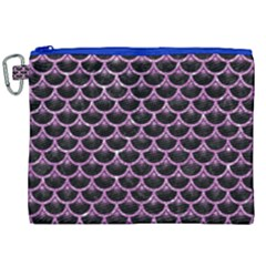 Scales3 Black Marble & Purple Glitter (r) Canvas Cosmetic Bag (xxl) by trendistuff