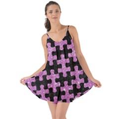Puzzle1 Black Marble & Purple Glitter Love The Sun Cover Up by trendistuff