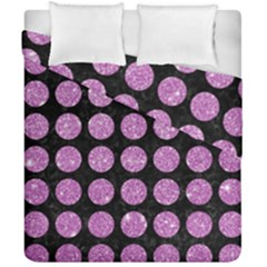 Circles1 Black Marble & Purple Glitter (r) Duvet Cover Double Side (california King Size) by trendistuff