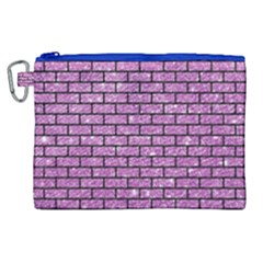 Brick1 Black Marble & Purple Glitter Canvas Cosmetic Bag (xl) by trendistuff