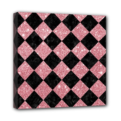 Square2 Black Marble & Pink Glitter Multi Function Bag	 by trendistuff