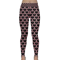 Scales3 Black Marble & Pink Glitter (r) Classic Yoga Leggings