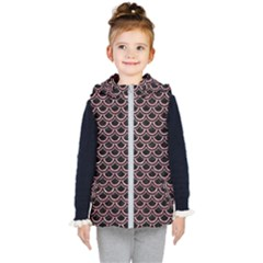 Scales2 Black Marble & Pink Glitter (r) Kid s Puffer Vest