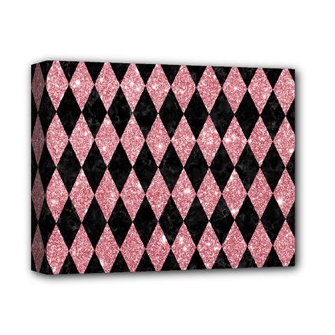 Diamond1 Black Marble & Pink Glitter Deluxe Canvas 14  X 11  by trendistuff