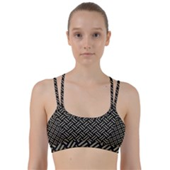 Woven2 Black Marble & Khaki Fabric (r) Line Them Up Sports Bra