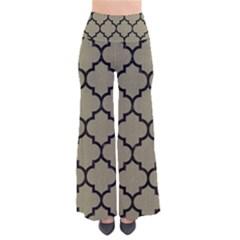 Tile1 Black Marble & Khaki Fabric Pants by trendistuff