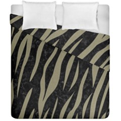 Skin3 Black Marble & Khaki Fabric (r) Duvet Cover Double Side (california King Size) by trendistuff