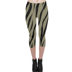 Skin3 Black Marble & Khaki Fabric Capri Leggings