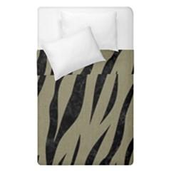 Skin3 Black Marble & Khaki Fabric Duvet Cover Double Side (single Size) by trendistuff