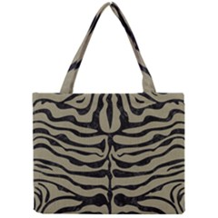 Skin2 Black Marble & Khaki Fabric Mini Tote Bag by trendistuff