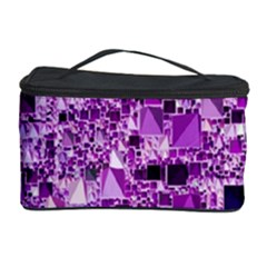 Modern Geo Fun,lilac Cosmetic Storage Case by MoreColorsinLife