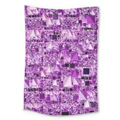 Modern Geo Fun,lilac Large Tapestry by MoreColorsinLife