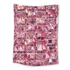 Modern Geo Fun,pink Medium Tapestry by MoreColorsinLife